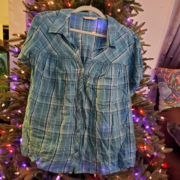 St. John's Bay Tops - Plaid Shirt